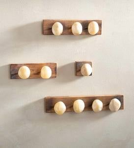 Handcrafted Stone-Shaped Onyx Wall Hooks