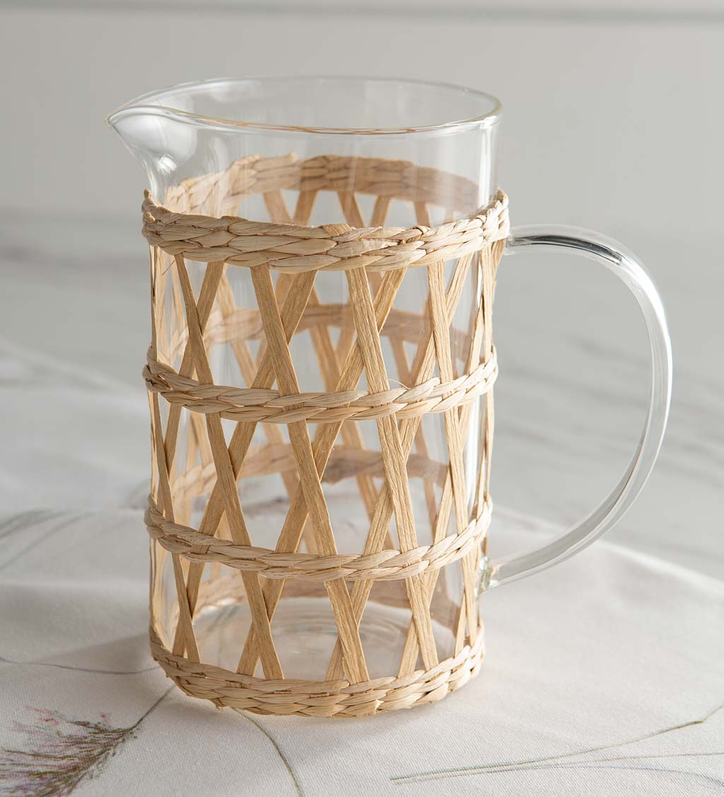 Rattan Wrap Pitcher