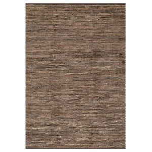 "Loloi Edge Leather & Jute Rug in Brown - 9'3"" x 13' - Brown"
