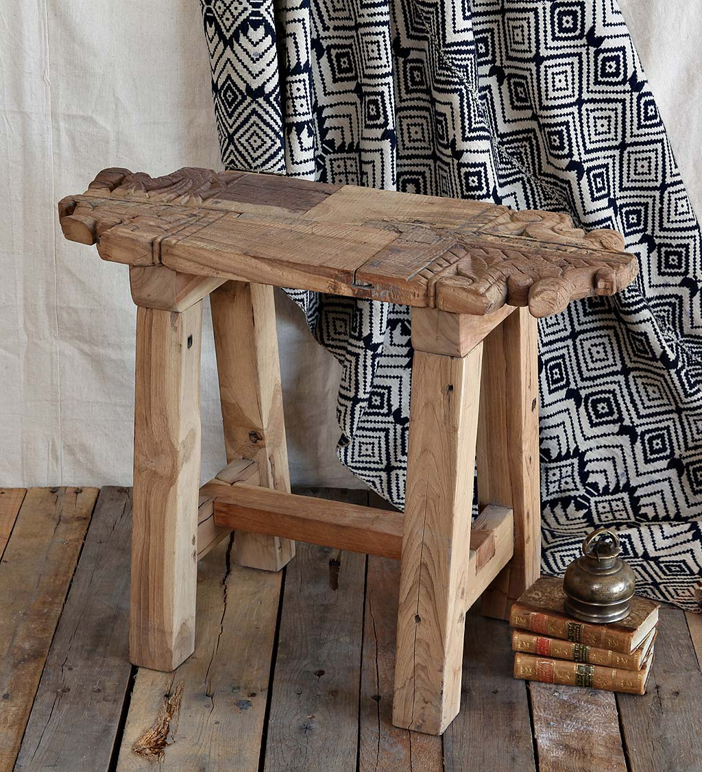 Portico Salvaged Wood Accent Stool
