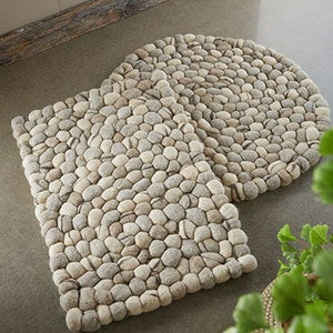 Felted Wool Pebble Rugs