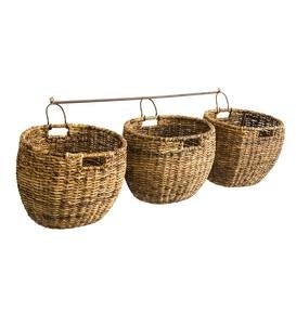 Javanese Woven Storage Baskets, Set of 3