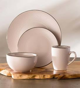 Rose Gold and Ivory Dinnerware Collection