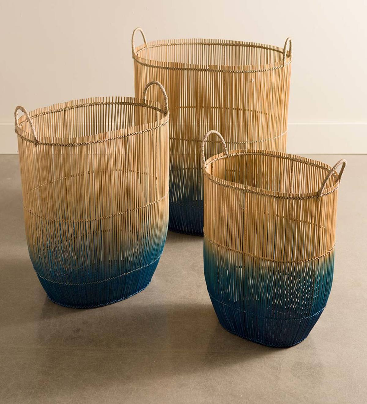 Set of 3 Ombre Nesting Baskets