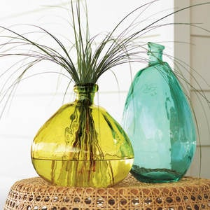 Recycled Glass Balloon Vases