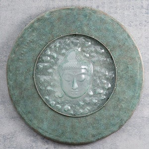 Glass & Metal Buddha Drum Lid