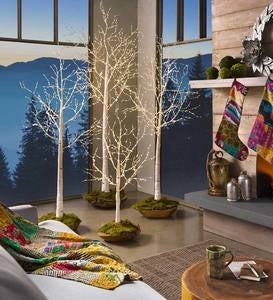 Natural Birch LED Light Trees
