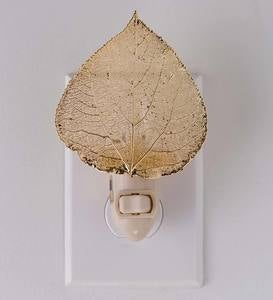 24K Gold Aspen Leaf Nightlight