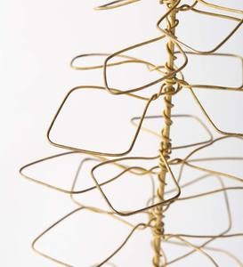 Antique Brass Wire Trees, Set of 3