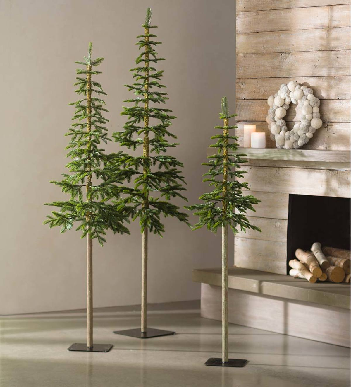Faux Green Fir Alpine Trees