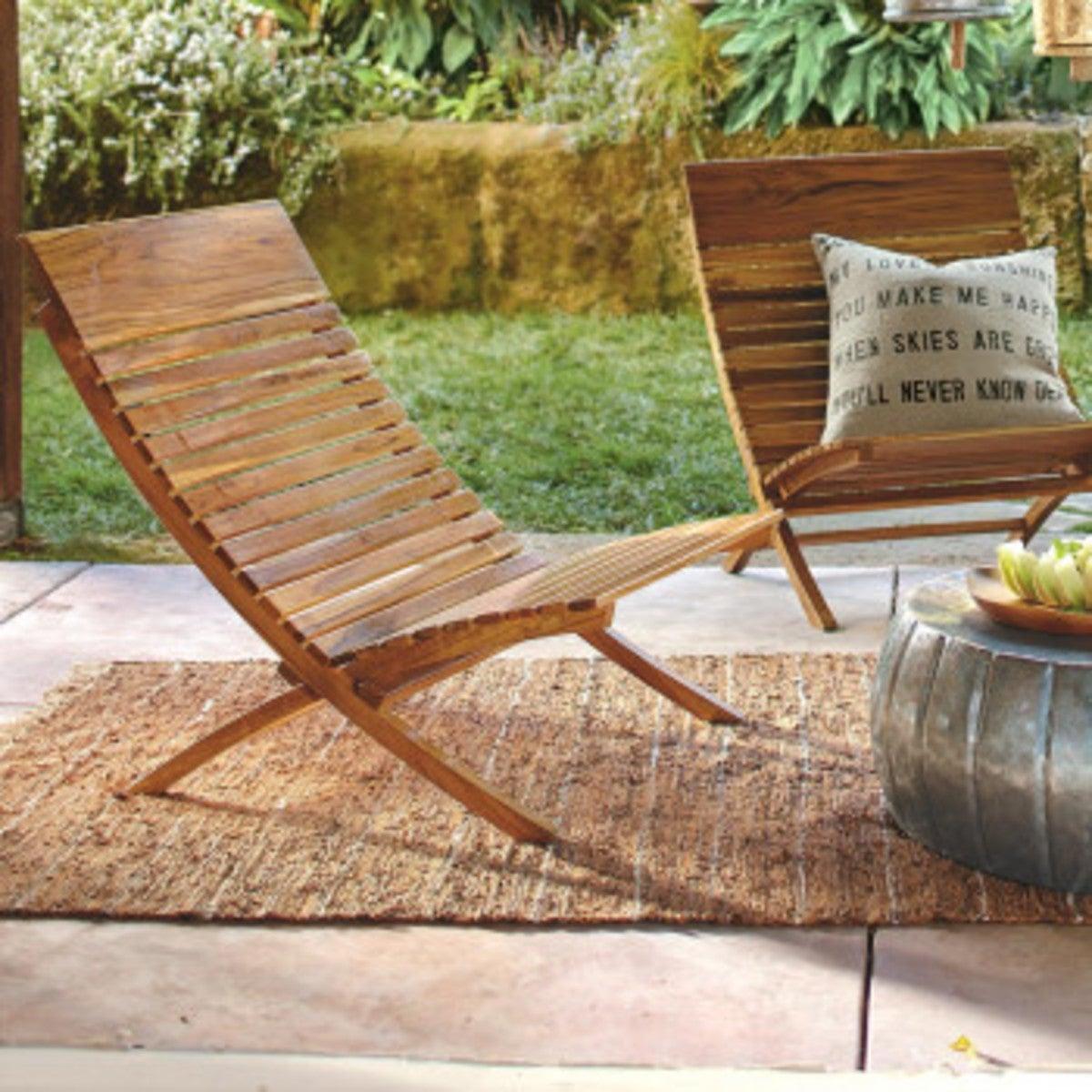Barcelona Teak Chairs Set Of 2 Vivaterra