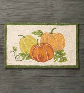 Hand-Hooked Wool Fall Accent Rug