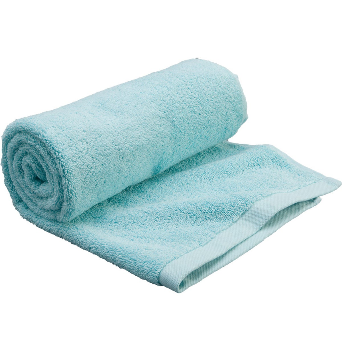 Premium Carded Cotton Bath Towel - Aqua