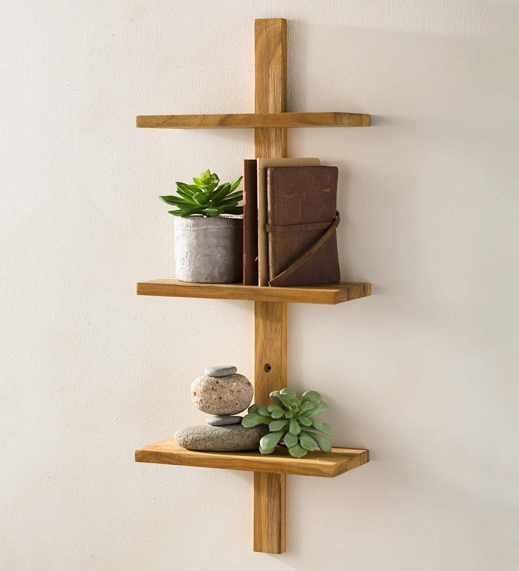 Recycled Golden Teak Takara Column Shelves & Ladder