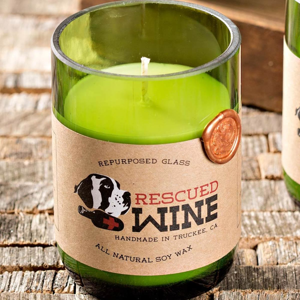 Rescued Wine Soy Candles  - Cabernet