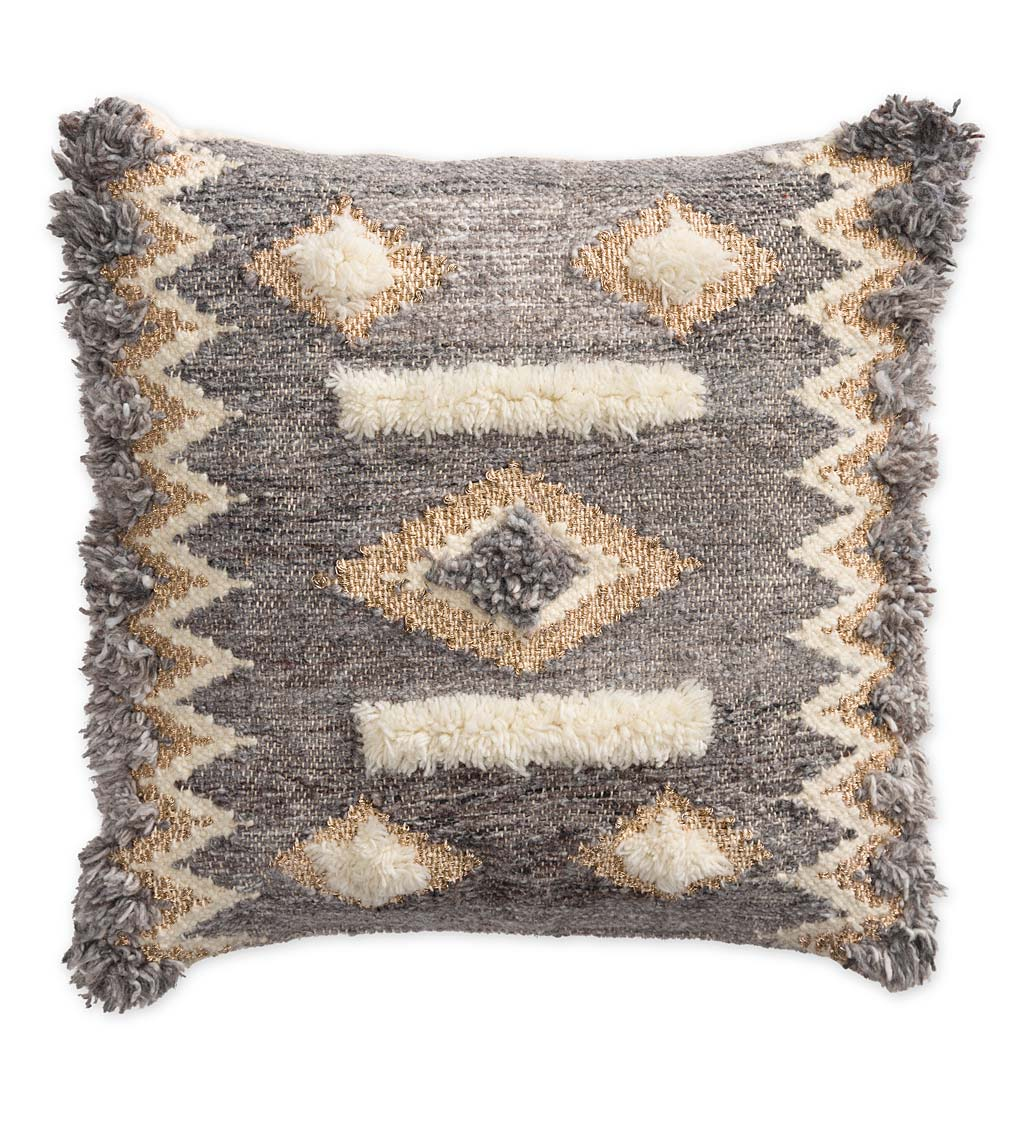 "Hygge Decorative Throw Pillow, 18"" Square"