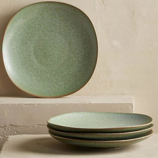 Terra Green Stone Salad Plates, Set of 4