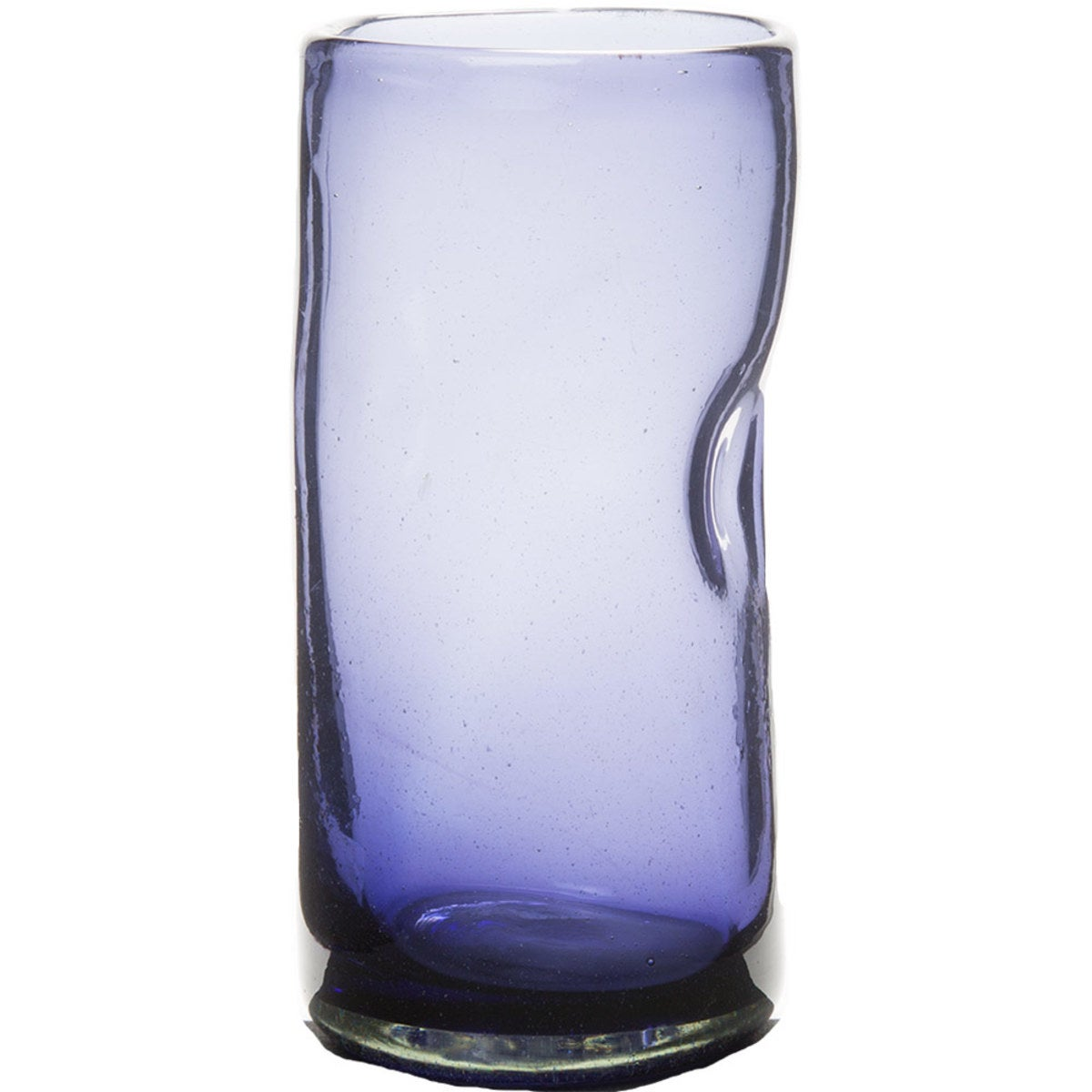 Slumped Recycled Glass Vase - Small Purple