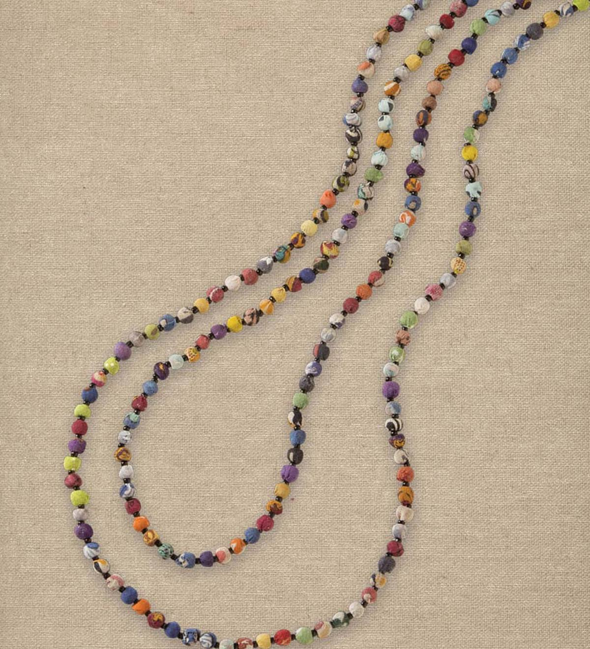 Kantha Beaded Tiered Necklace