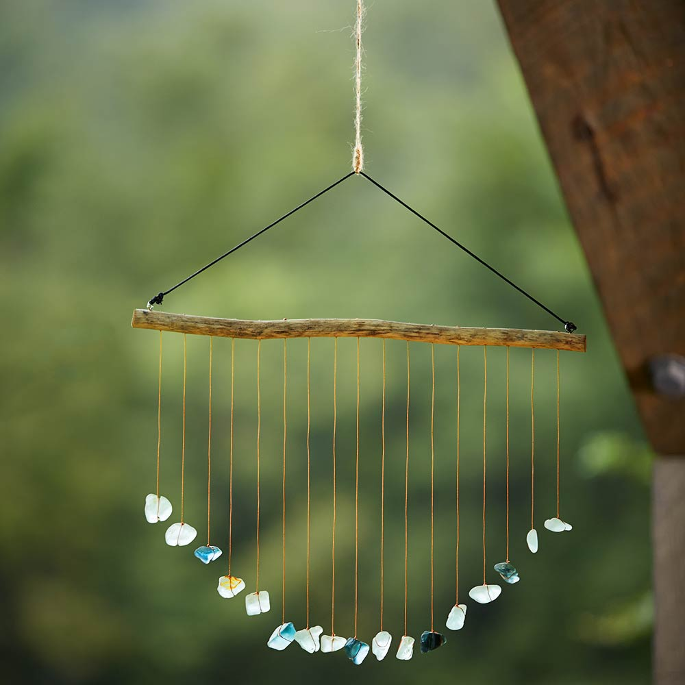 Raining Sea Glass Mobile