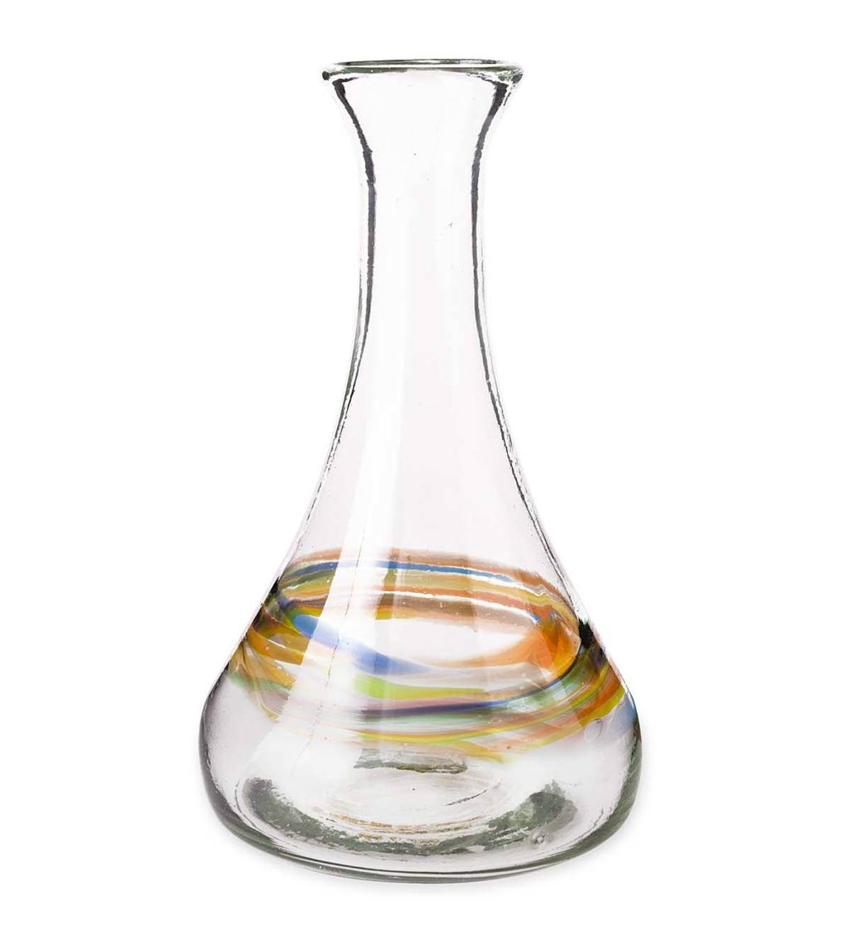 Rainbow Recycled Glass Decanter