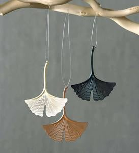 Ginkgo Ornaments, Set of 4