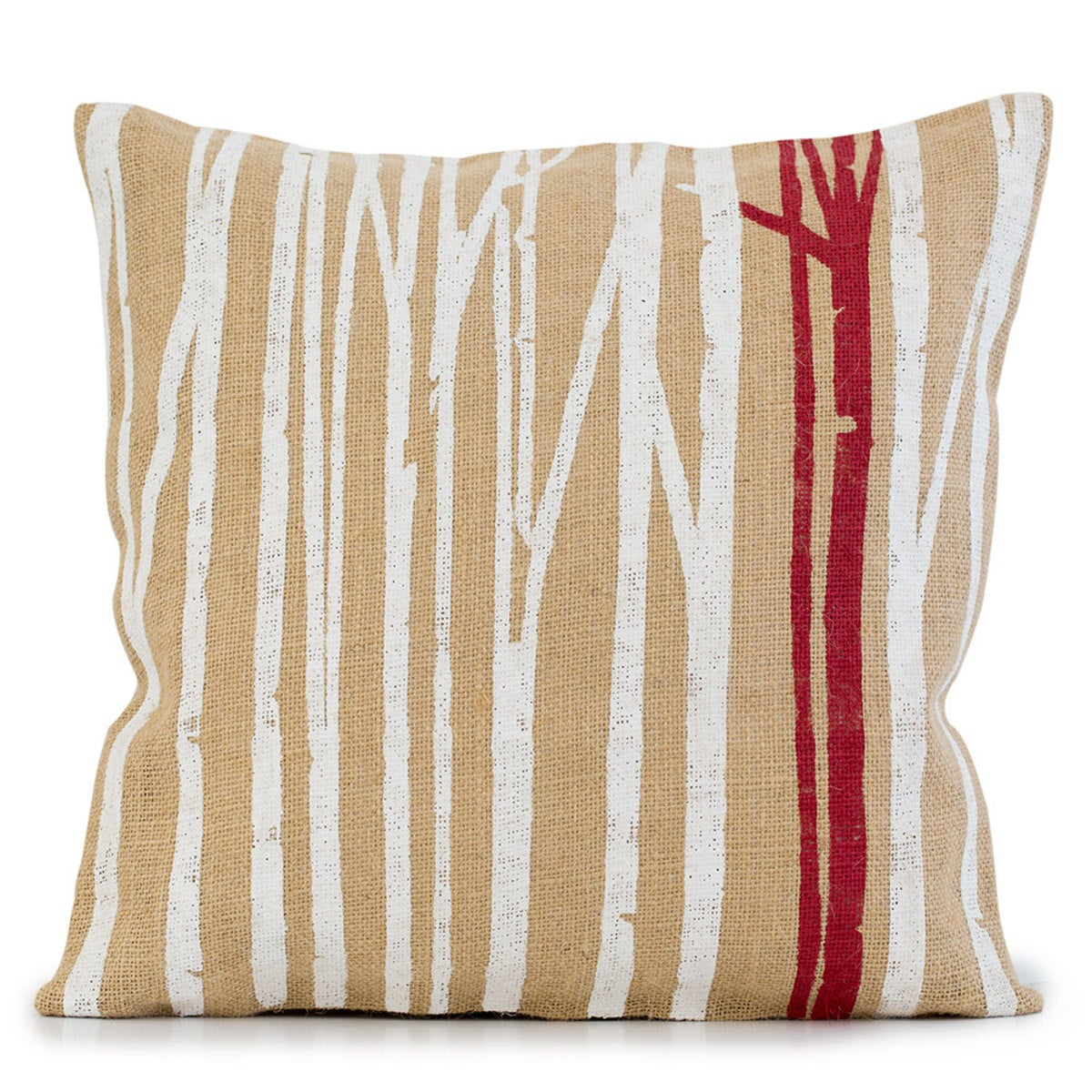 Burlap Branches Pillow Cover