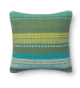 Geo Ombre Woven Throw Pillow