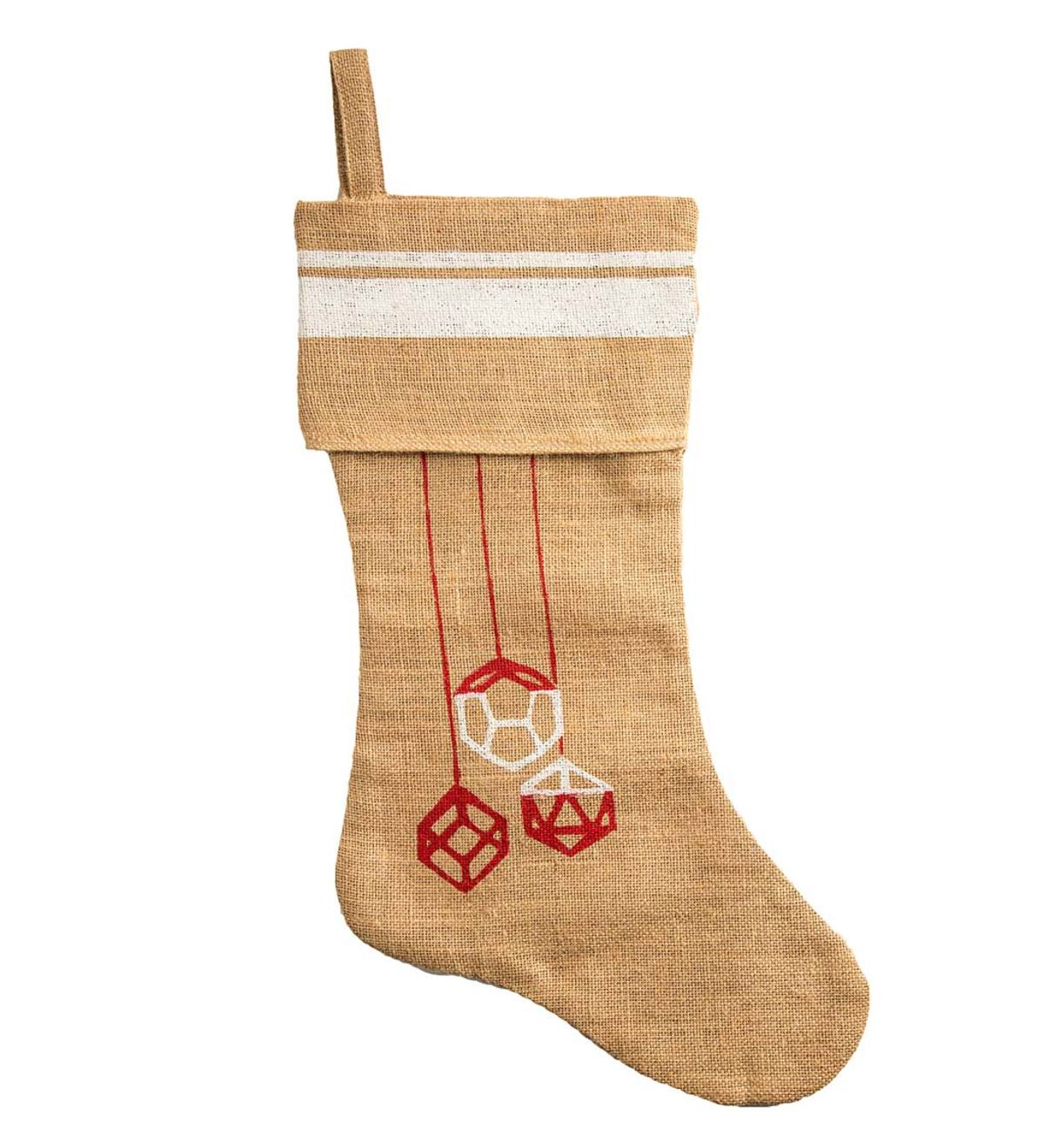 Jute Ornament Holiday Stocking