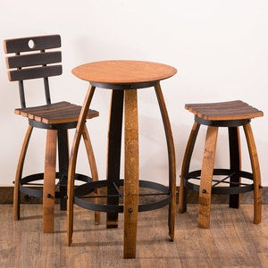 Repurposed Wine Barrel Bistro Collection