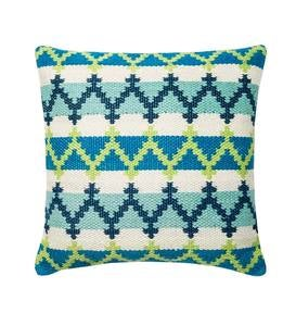 "Aztec Handwoven Outdoor Throw Pillow 22"" Square"