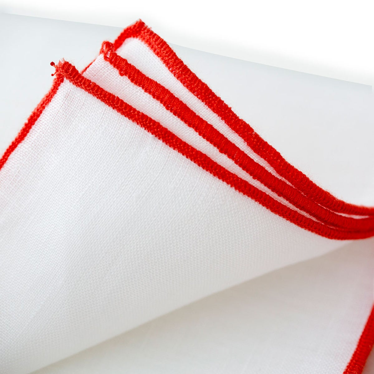 100% Pure Linen Runner - Coral Stitch