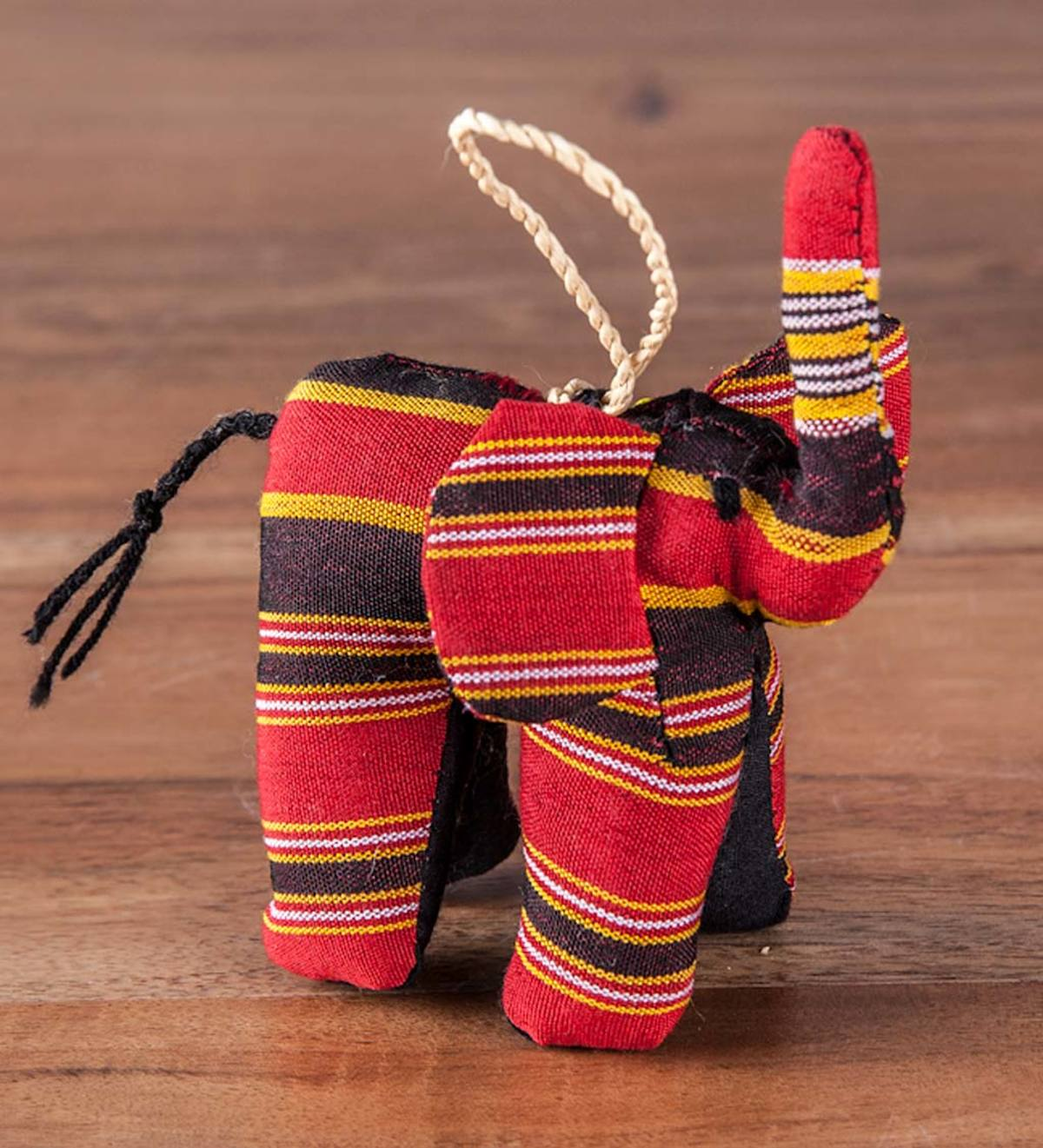Fair Trade Colorful Cotton Animal Ornament Collection