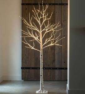 "Birch LED Lighted Tree, X-Large 7'2""H"