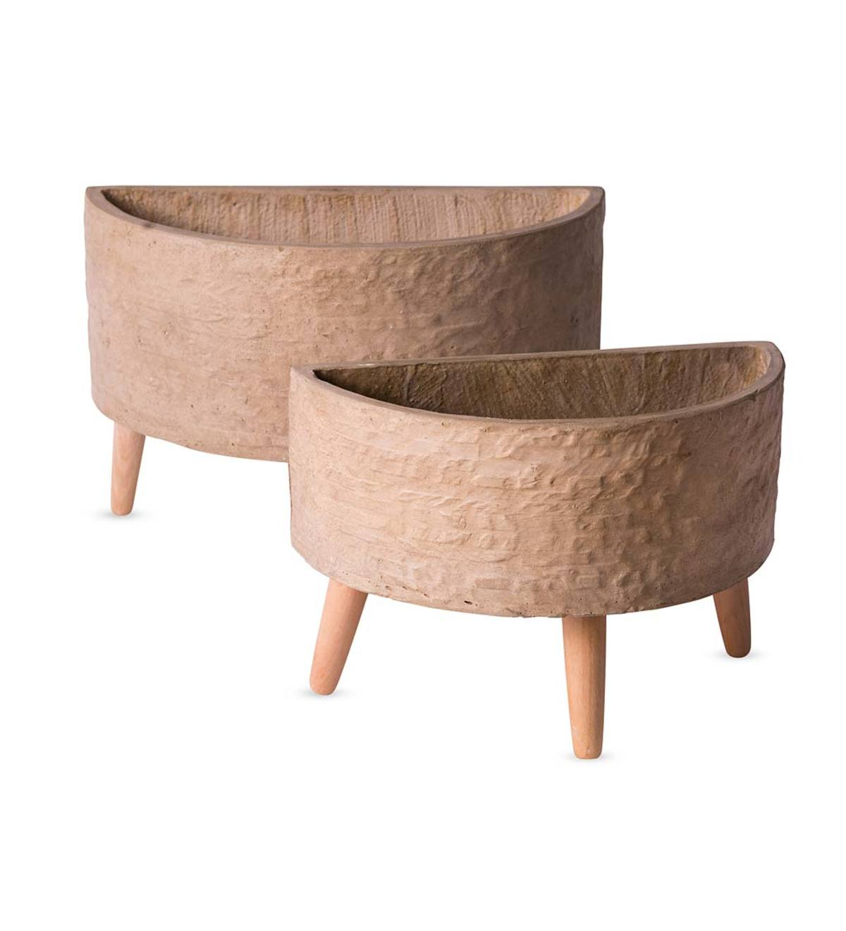 Arc Footed Planters, Set of 2 - Terracotta