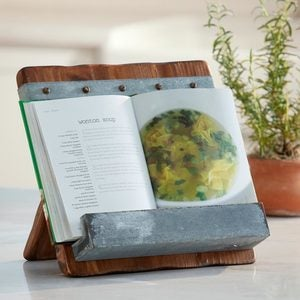 Reclaimed Wood Cookbook & iPad Holder