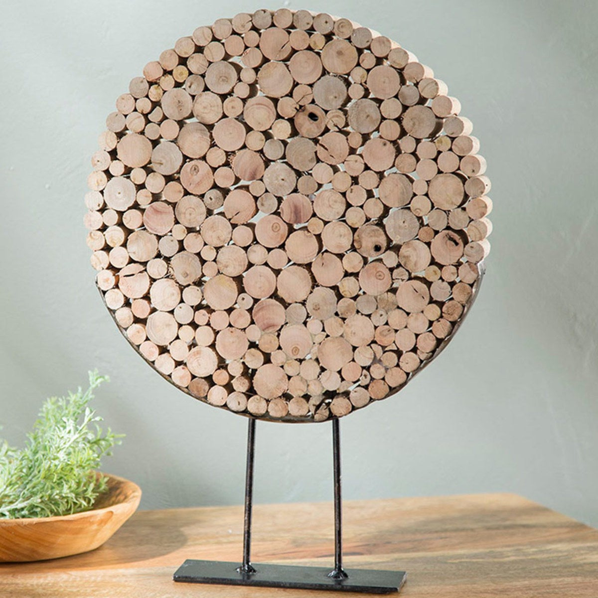Standing Reclaimed Wood Slice Disk
