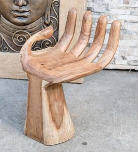 Suar Wood Carved Hand Stool