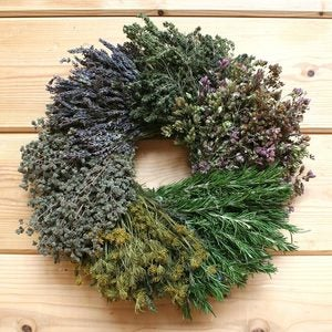 Organic Segmented Herb Wreath