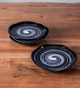 Black Swirl Ceramic Dinnerware
