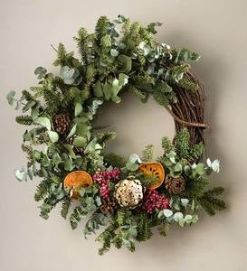 Twig and Eucalyptus Wreath 22