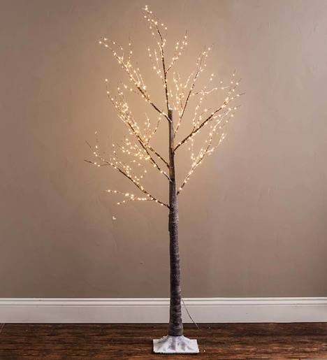 Medium Birch LED Lighted Tree, 5'H
