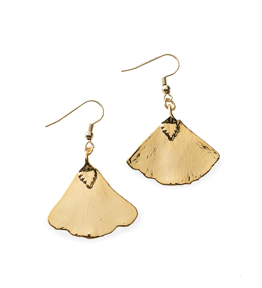 Real Leaf Dipped Earrings