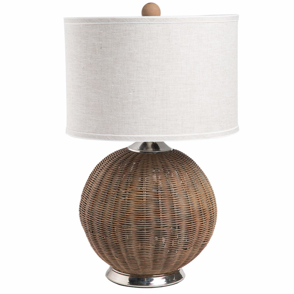 Woven Rattan Temple Lamp