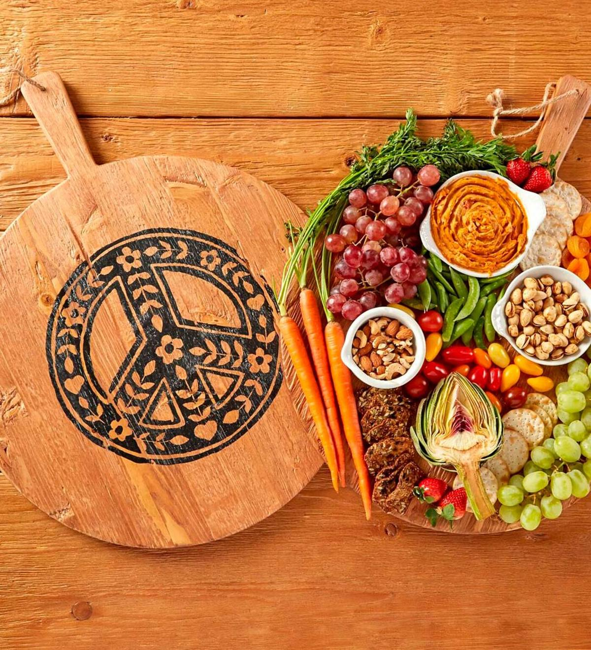 Peace Sign Serving Board