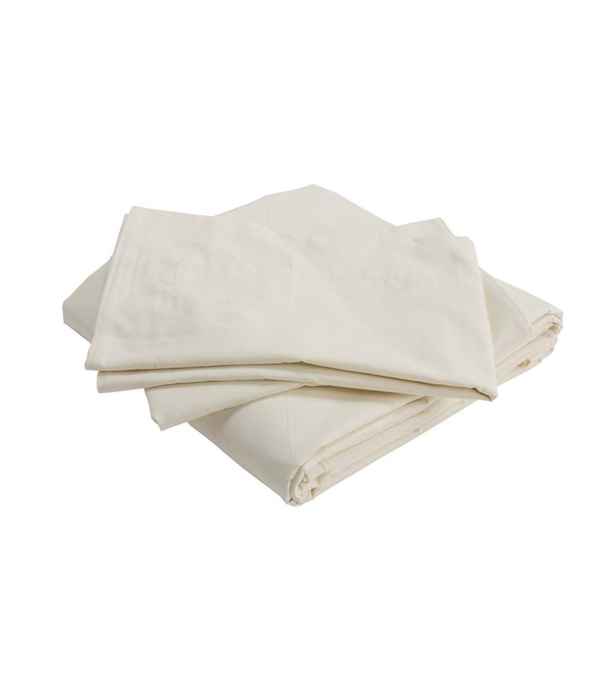 Classic Egyptian Cotton Queen Sheet Set - Ivory