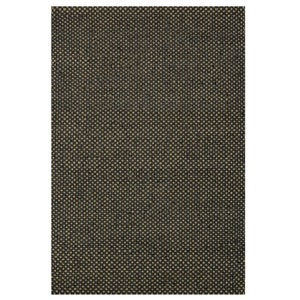 "Loloi Eco Checked Jute Rug in Black - 9'3"" x 13' - Green"