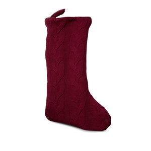 Large Cable Knit Christmas Stocking