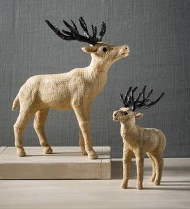 Jute Deer Sculptures