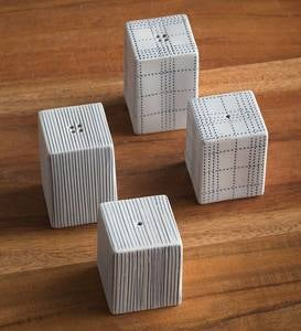 Modern Japandi-Inspired Porcelain Clay Salt and Pepper Shakers